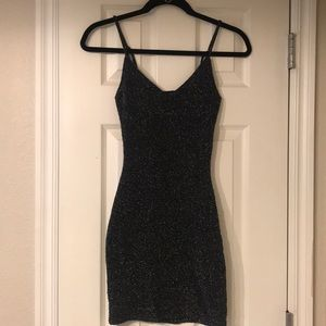 Little Black Dress w/ Silver Sparkles